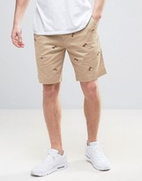 Polo Ralph Lauren Straight Chino Shorts Bulldog Embroidery In Beige