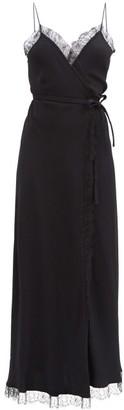 Julie De Libran - Jane Lace-trimmed Crepe Longline Dress - Black