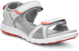 Ecco Shadow White & Silver Gray Cruise Nubuck Sandal - Women