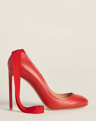 Francesco Russo Ankle-Wrap Leather Pumps