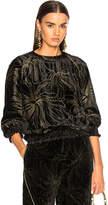 Chloé Gold Pigment Printed Velvet Sweatshirt