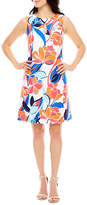 Ronni Nicole Sleeveless Floral Sheath Dress