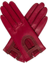 Hermes Alligator-Trimmed Kidskin Gloves w/ Tags
