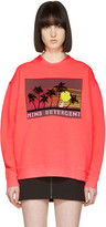 Alexander Wang Pink Oversized Patch Pullover