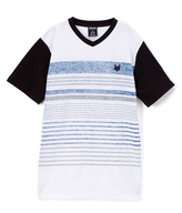 Zoo York Federal Blue Stripe Cranium Tee - Boys