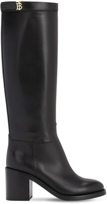 Burberry 70mm Redgrave Leather Tall Boots