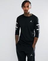 Jordan Nike 6 Times Raglan T-Shirt In Black 862423-010