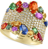 Effy Watercolors by Multi-Gemstone (4-1/2 ct. t.w.) and Diamond (1-1/12 ct. t.w.) Statement Ring in 14k Gold