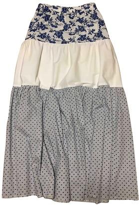 Mariuccia White Cotton Skirts