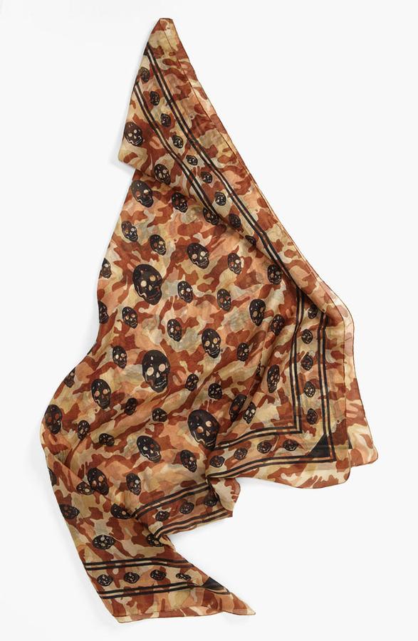 Camo Raj Imports Skull & Print Silk Scarf