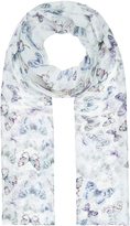 Accessorize Vibrant Meadow Butterfly Classic Silk Scarf