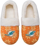 Unbranded Women's Miami Dolphins Ugly Knit Moccasin Slippers