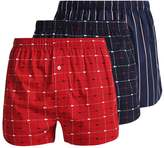 Lacoste 3 Pack Boxer Shorts Red/black/dark Blue