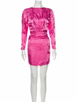 ATTICO Bateau Neckline Mini Dress w/ Tags Pink
