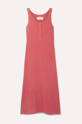 The Great The Snap Tank Cotton-jersey Midi Dress - Coral
