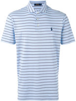Polo Ralph Lauren logo embroidered striped polo shirt - men - Cotton - S