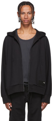 Y-3 Black Stacked Badge Hoodie