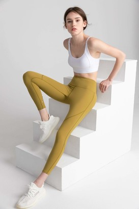 J.ING Citrus Lime High-Waist Vented Legging