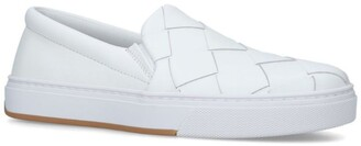 Bottega Veneta Leather Woven Slip-On Sneakers