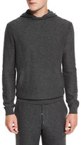 Ermenegildo Zegna Premium Cashmere Hoodie Sweater, Gray