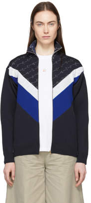 Stella McCartney Navy Monogram Zip-Up Jacket