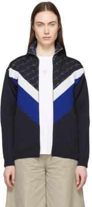 Stella McCartney Navy Monogram Zip-Up Jacket