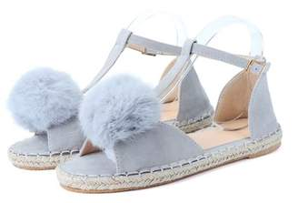 Kadell Meigar Summer Women's Fashion Peep Toe Cute Sandals Espadrilles Gladiator Casual Shoes Slippers Flats for Girls Ladies