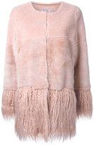 Shrimps - 'Porgie' shearling coat - women - Wool - 8