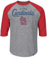 Majestic Men's St. Louis Cardinals Fast Win Raglan T-Shirt