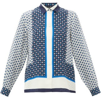 Max Mara Micio Blouse - Womens - Blue White