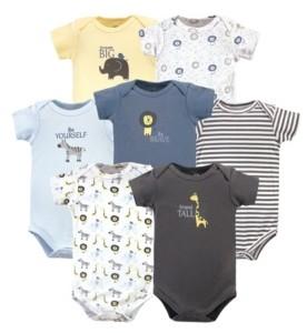 Hudson Baby Baby Boys Safari Bodysuits, Pack of 7