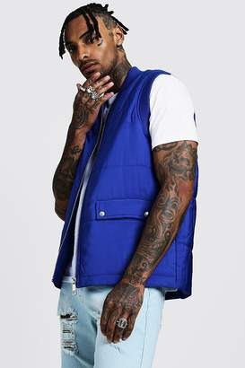 Quilted Gilet With Flap Pockets