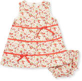 Elephantito Floral Cotton A-Line Dress & Bloomers Set