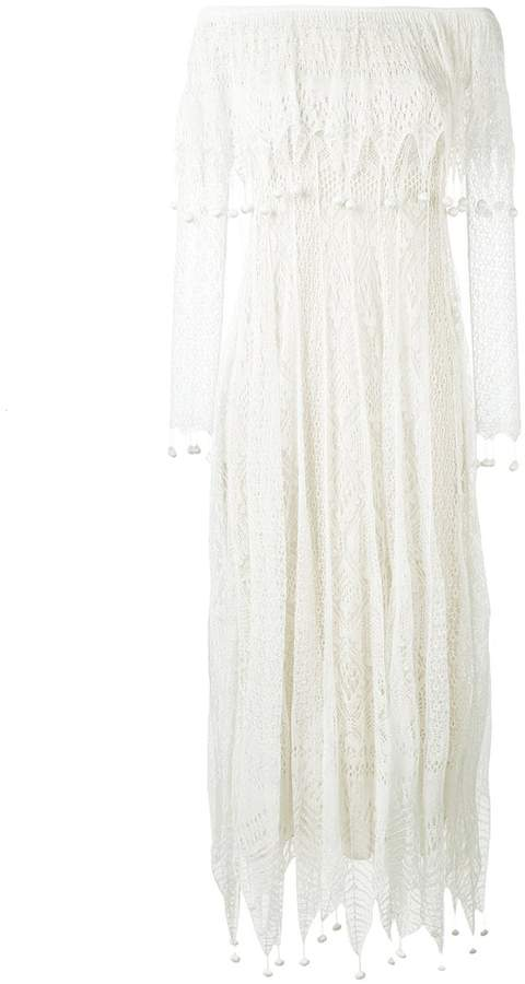 Alexander McQueen pom pom lace dress