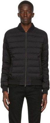 Herno Black Down LAviatore Bomber Jacket