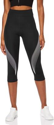 Aurique Amazon Brand Women's Printed Capri Sports Leggings