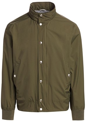 Brunello Cucinelli Scott Nylon Bomber Jacket