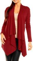 Glamour Empire Womens Stretchy Waterfall Blazer Jersey Cardigan Top US 8-16 320 (