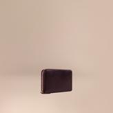 Burberry London Leather Ziparound Wallet