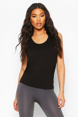 boohoo Fit Basic Jersey Loose Fit Gym Tank Top