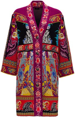 Etro Jacquard Knit Coat