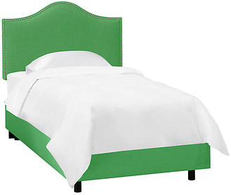 One Kings Lane Tallman Kids' Bed - Green Linen - Twin