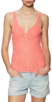Free People Piece Dye Pucker Lace Cami Top