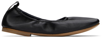 Lanvin Black Nappa Leather Ballerina Flats