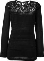Ermanno Scervino pointelle knit top - women - Polyamide/Polyester/Spandex/Elastane/Wool - 46