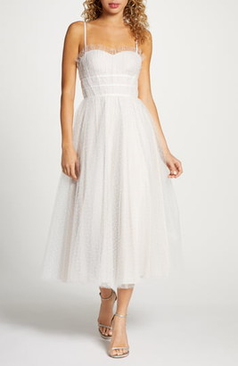By Watters Veronica Swiss Dot Tea Length Wedding Dress