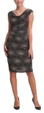 Jessica Howard Draped-Neck Sheath Dress