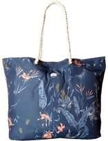 Roxy Tropical Vibe Printed Beach Bag Tote Handbags