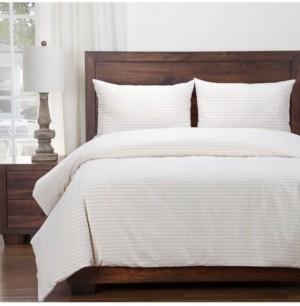 Siscovers Ticking Stripe Barley 6 Piece Queen Luxury Duvet Set Bedding