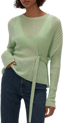 Helmut Lang Strap Detail Alpaca Sweater